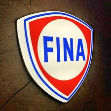 FINA LED ILLUMINATED LIGHT BOX WALL SIGN GARAGE GAS STATION PETROL GASOLINE OIL