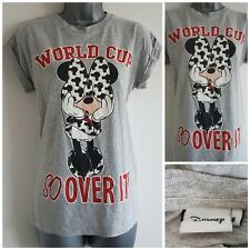 Size 8 Top Grey Red White Black MINNIE MOUSE Fitted Stretch DISNEY Casual