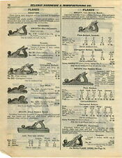 1932 PAPER AD 7 PG Keystone Stanley Bailey Wood Planes Tools Aluminum Jointer