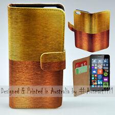 Wallet Phone Case Flip Cover for Nokia Lumia 640 - Copper Bronze Gold Print