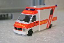 Herpa 044417 HO 1/87 Volkswagen VW LT2 RTW Wolfsburg Fire Dept Ambulance NIB