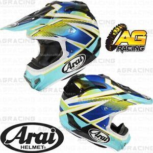 Arai MXV MX-V Helmet Day Blue Green Adult X-Small XS Motocross Enduro Helmet