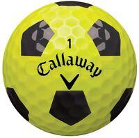 24 Callaway Chrome Soft Truvis Yellow/Black AAAA Near Mint Used Golf Balls