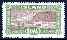ICELAND — SCOTT 148 — 1925 50a LANDING THE MAIL PICTORIAL ISSUE — MH — SCV $75