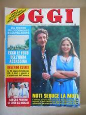 OGGI n°32 1985 Francesco Nuti Ornella Muti Rock Hudson Carlo Rubbia   [G802]