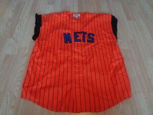 Men's New York Mets M Vintage Sleeveless Jersey Starter (Orange) Jersey