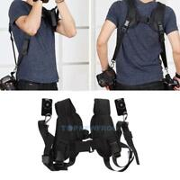 Quick Rapid Double Dual Shoulder Sling Belt Strap F 2 DSLR Camera Canon Sony Nik