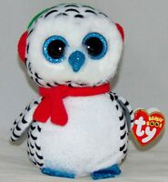 "2018 Holiday Ty Beanie Boos NESTER Owl  6"" size IN HAND Ships from the USA"