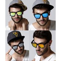 Classic Square Mirror Lens Women Men Unisex Vintage Retro Shade Sunglasses