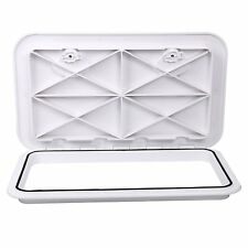 "24"" X 14"" White MARINE BOAT Deck Access HATCH & LID Caravan/RV Storage"