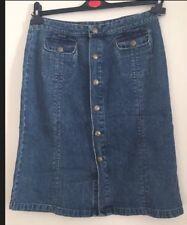 Ladies DKNY Denim Skirt A-Line Size 6 Mid Wash Blue