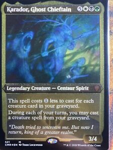 MTG NM Karador, Ghost Chieftain Etched Foil - Commander Legends