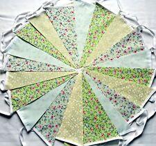 60ft//18m Carnival Fabric Bunting WEDDINGS vintage shabby chic handmade 3 x 20 ca