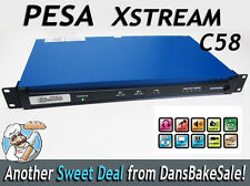 Pesa C58-002 Xstream C58 Multi-Channel Ip Encoder Demo w/ 5 Video 8 Audio Inputs