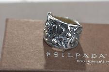 HTF Silpada R1686 Sterling Silver Holy Trinity Cuff Ring Size 7