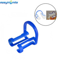 100Pcs Dental Cotton Roll Holder EASYINSMILE Disposable Blue Teeth Cilp Holders