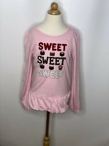 Gymboree Girls Pink Sweets Candy Long Sleeve  Top Sz 9 NWT