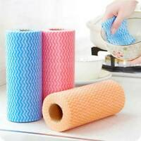 100x CLEANING CLOTHS Office Disposable Dish Kitchen Roll Catering Kitchen Magic