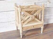 magazine rack table solid Teak assembled magazine rack coffee table with drawer