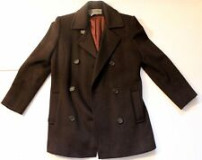 Bromley Petite Collection Very Dark Brown (Almost Black) Womens Peacoat 2P 2