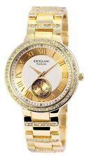 excellanc 1523 Reloj de pulsera mujer color oro piedras Estrás METAL