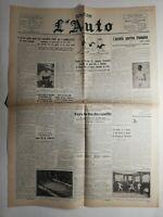 N294 La Une Du Journal L'auto 11 novembre 1931 Les Grands Prix de l'armistice