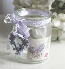 CLAYRE & EEF, Windlicht, Teelichthalter Glas * Lavendel - Herz * Spitze