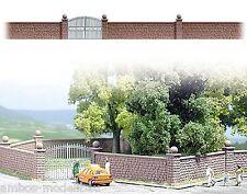 (9,94€/m) BUSCH 6014 H0, Steinmauer mit Tor, ca. 80 cm lang, Bausatz, Neu
