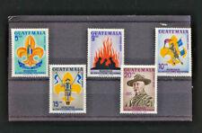 Boy Scouts Airmail Mint NH Complete Set Guatemala #C328 -332 1966 Airmails