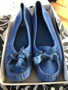 Clarks Blue Suede Flat Shoe