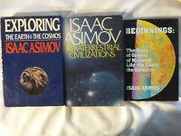 THREE (3) ISAAC ASIMOV Non Fiction hardbacks