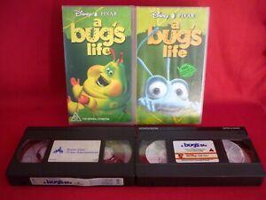 DISNEY PIXAR - A BUG'S LIFE - 2 COPIES VHS VIDEO TAPE VGC ANIMATED CLASSIC