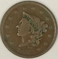 1837 Head of 38 Coronet Head Large Cent. VG. RAW3826/JA