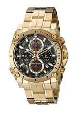 Bulova Men's Precisionist Chronograph Quartz Gold Tone 48mm Watch 97B138