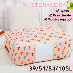 39L-105L Thickened Waterproof Storage Bags Large Non-woven Travel Organizer  ✔