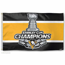 Pittsburgh Penguins Stanley Cup 2017 Champs Large Flag