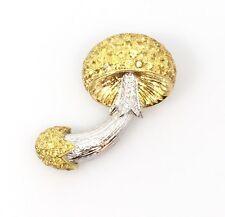 Amarillo Zafiro Y Diamante SETA pin / BROCHE in 18k and platinum- hm1543