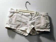 Hollister Off-White Cotton Blend Daisy Duke Booty Shorts - Size 3 - FREE SHIPPNG