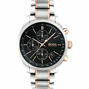 NEW HUGO BOSS SILVER ROSE GOLD 1513473 WATCH -2 YEARS WARRANTY NEXT DAY DELIVERY