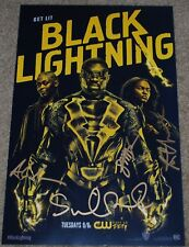 WONDERCON 2018 EXCLUSIVE WB CW DC BLACK LIGHTNING SIGNED POSTER