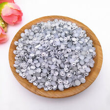 500pcs 4mm Silver Sunflower Crystal Lot Facets Resin FlatBack Rhinestone