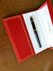 Diabolo de Cartier Black Fountain Pen 18k - M Nib  #ST180004
