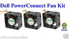Quiet! Dell PowerConnect 6224 Fan Kit, 3x New Sunon MagLev Fans 18dBA Noise each