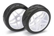 Absima 1/8 Buggy Street Wheels with Tyres White 2pcs 2530002