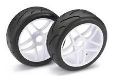 Absima 1/8 Buggy Calle ruedas con neumáticos Blanco 2pcs 2530002