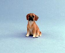 Adorable Dollhouse Miniature Puggle Puppy Dog Figurine #Dp134