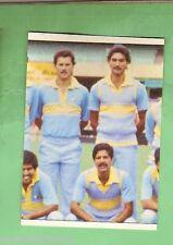 1985 SCANLENS CRICKET STICKER #89  THE INDIAN TEAM