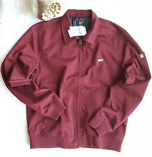 OBEY Men's Slacker Coach Jacket, Burgundy, Small