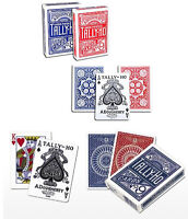 4 mazzi Carte Tally-Ho : 2 Circle Back (Blu-Rosso) + 2 Fan Back (Blu-Rosso)