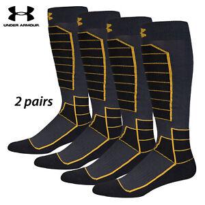 UA Socks: 2-PAIR Mtn Perf. OTC (L) Anthra.